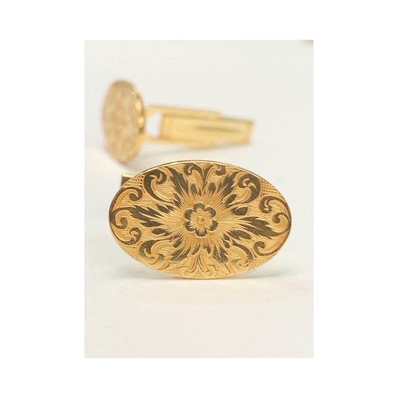 Decor Vintage Floral Cuff Links