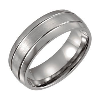 Gent's Titanium Wedding Band