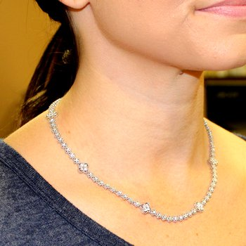 Multi Style 'Alhambra' Diamond Necklace