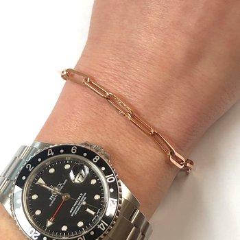 Rose Gold Paperclip Bracelet