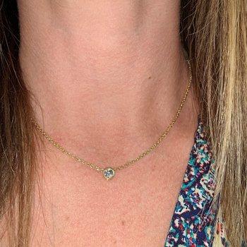 Bezel Solitaire Diamond Necklace