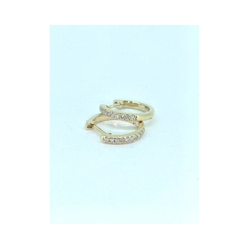 Decor .12CT Diamond Huggie Earrings