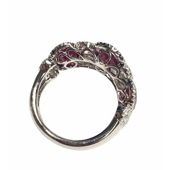 4.68CT Oval Ruby and Diamond Ring