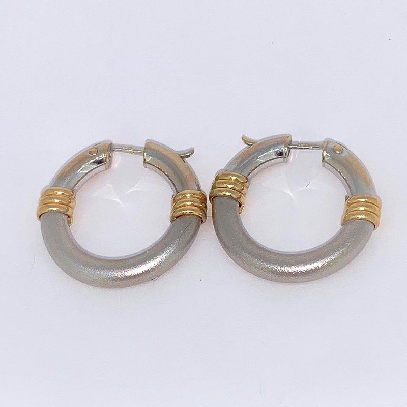 Decor Two Tone Hoop Earrings