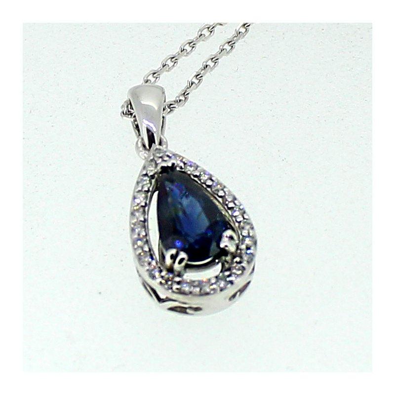 Decor Sapphire & Diamond Pendant