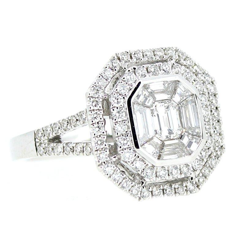 Decor Double Halo Diamond Ring