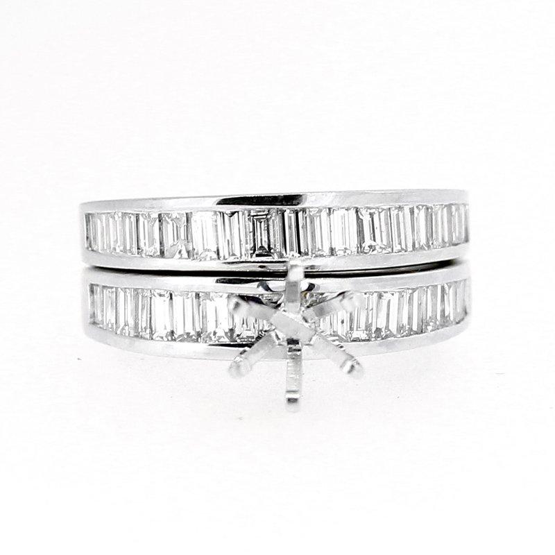 Decor Baguette Diamond Ring Mounting & Band