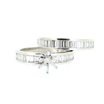 Baguette Diamond Ring Mounting & Band