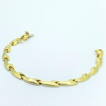 Gold Leaf Link Bracelet