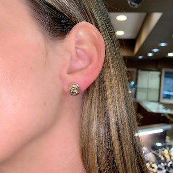 Bezel Set Diamond Stud Earrings