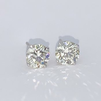2.04ctw Diamond Stud Earrings