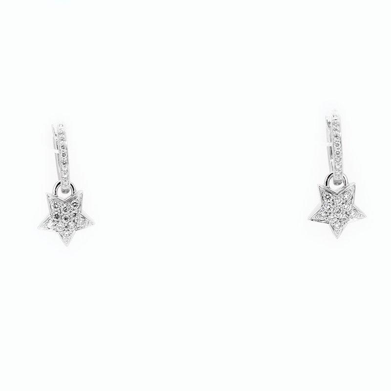 Decor Star Diamond Drop Earrings