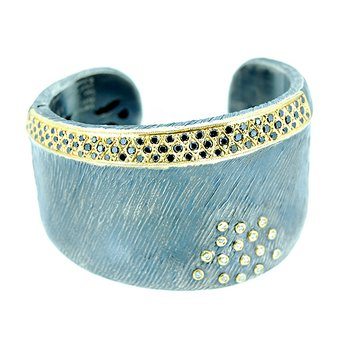 Kurtulan Two Tone Cuff with Diamonds