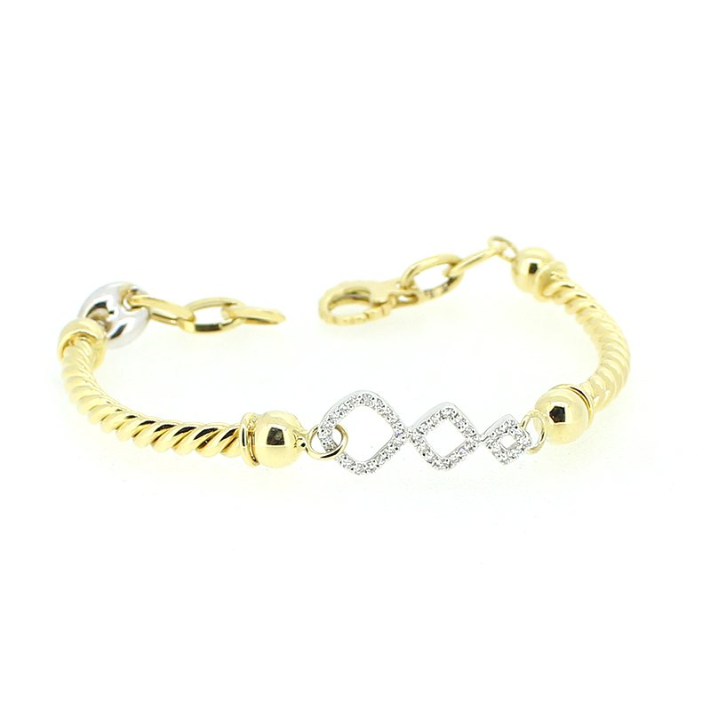 Decor Gold & Diamond Bracelet