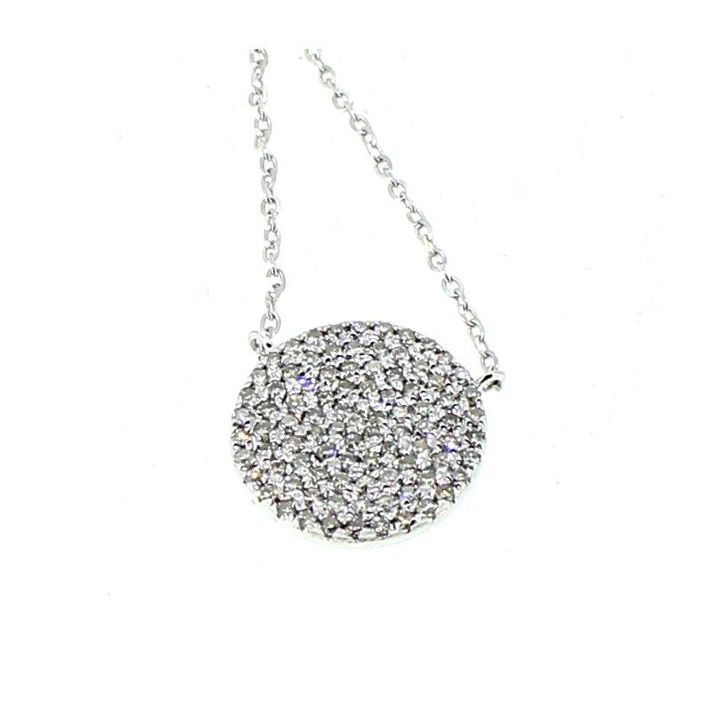 Decor Pave Diamond Necklace