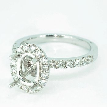 Oval Halo Ring Mounting