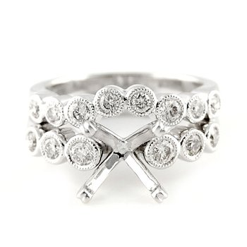 Bezel Set Diamond Ring Mounting