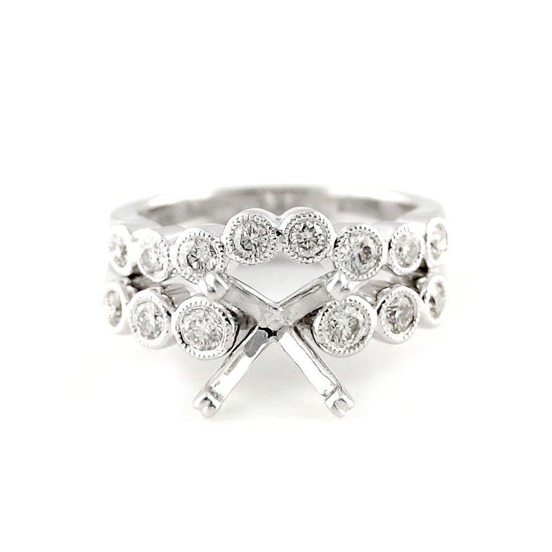 Decor Bezel Set Diamond Ring Mounting