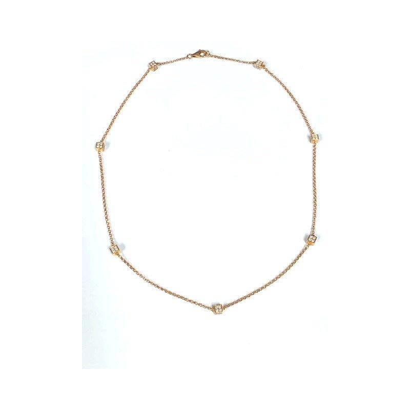 """Decor Diamond """"Dice"""" Necklace"""