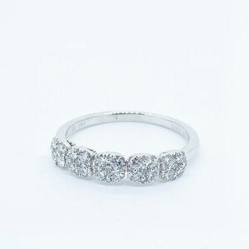 Pave Diamond Cluster Band