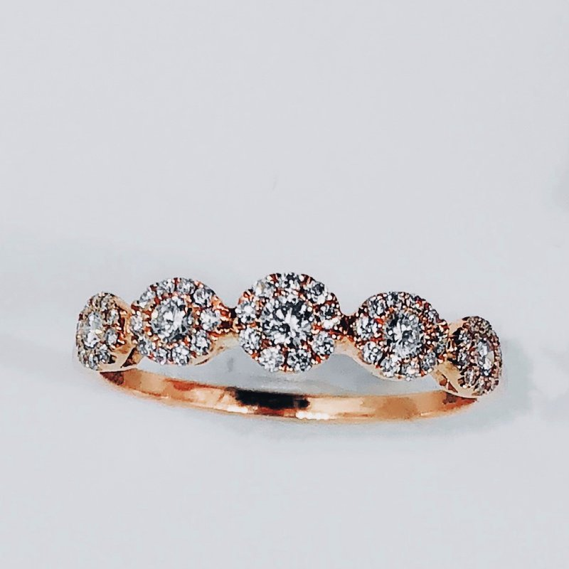 Decor Diamond Floral Cluster Ring
