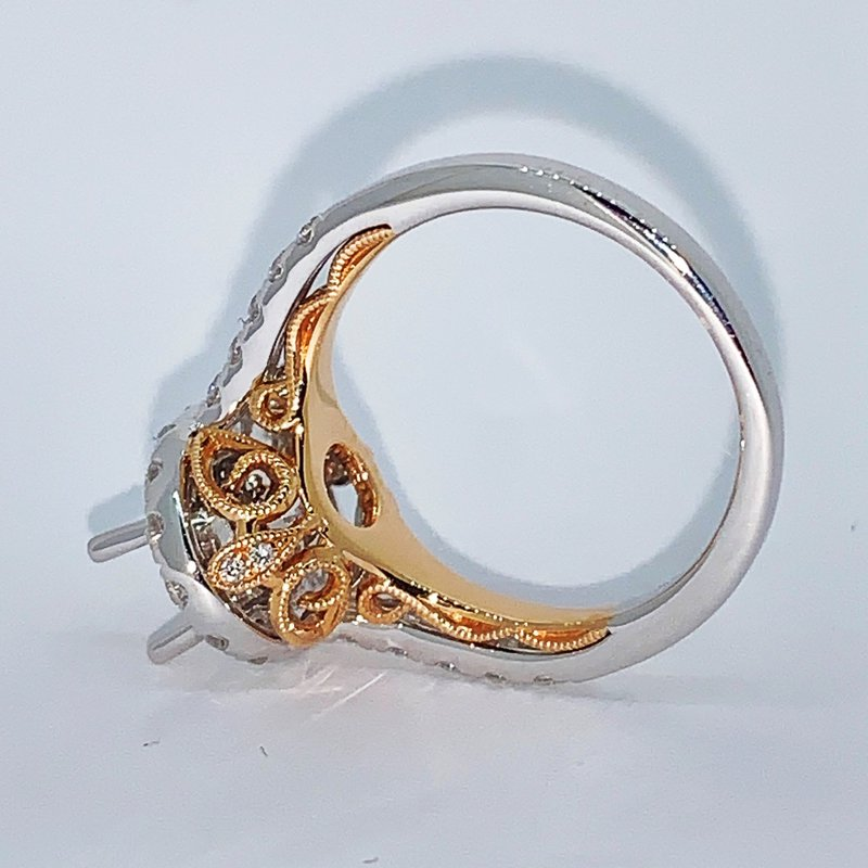 Decor Oval Halo Ring Mounting