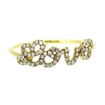 Diamond Love Ring in Yellow Gold