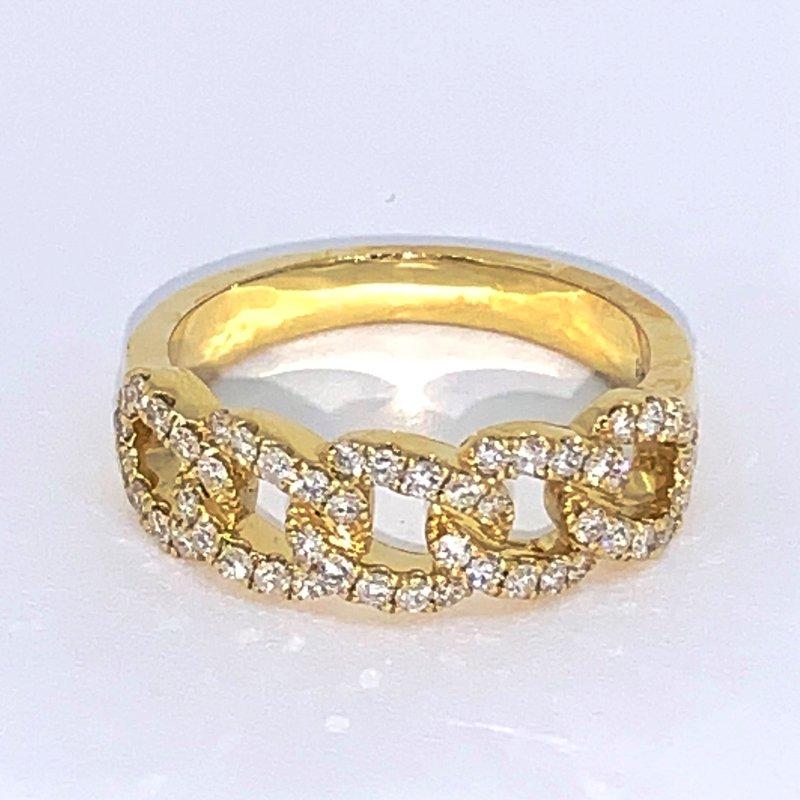 Decor Diamond Chain Link Ring