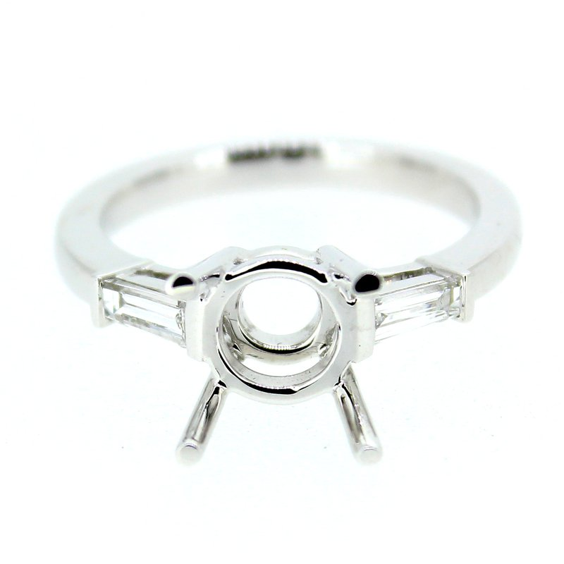 Decor Baguette Diamond Ring Mounting