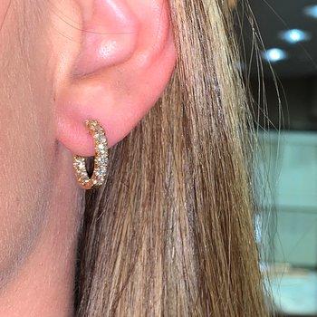 1.50ctw Diamond Hoop Earrings