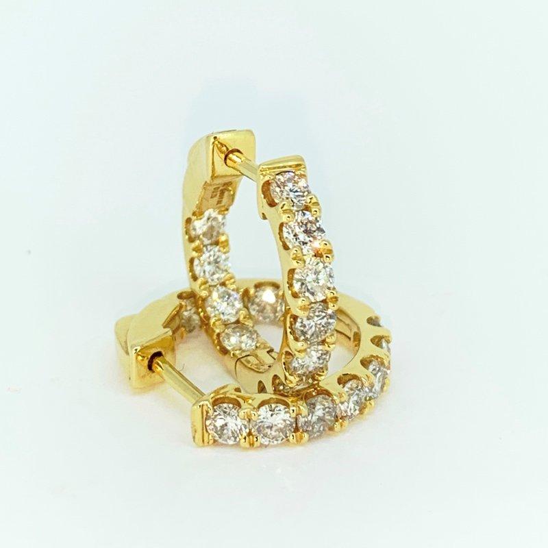 Decor 1.50ctw Diamond Hoop Earrings