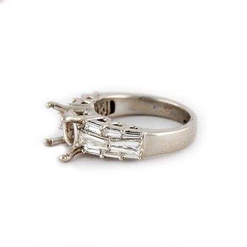 Platinum Baguette Diamond Ring Mounting