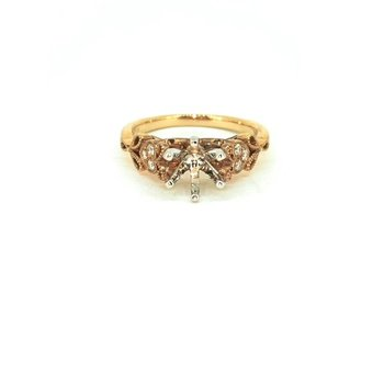 Vintage Inspired Rose Gold Diamond Mounting