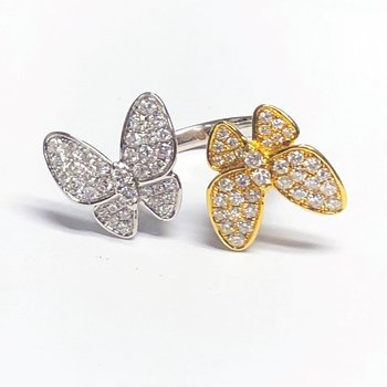 2 Tone Butterfly Ring