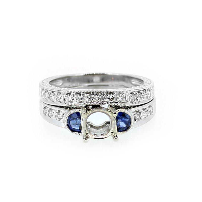 Decor Estate Sapphire & Diamond Wedding Set