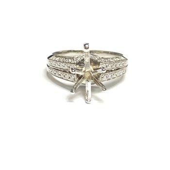 Split Shank Pear Shaped Diamond Ring Mounting