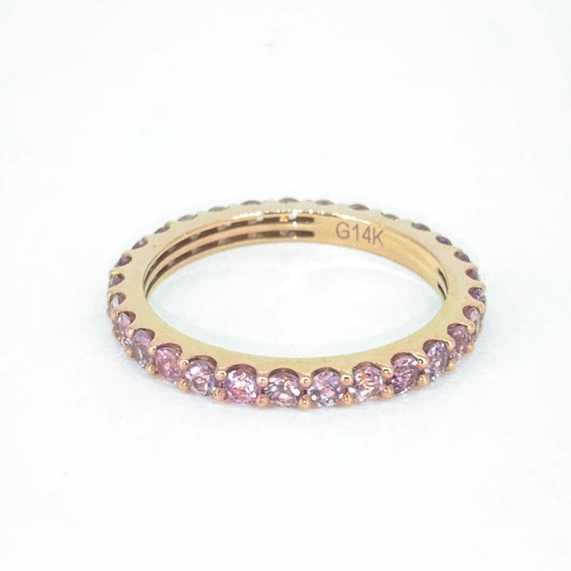 Decor Pink Sapphire Stackable Eternity Band