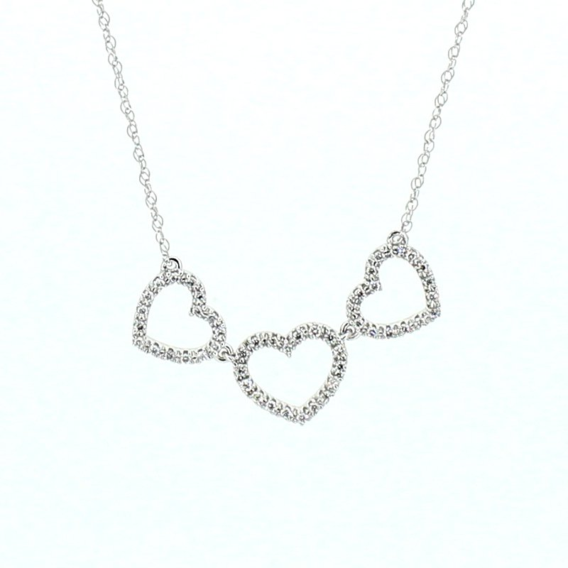 Decor Diamond Hearts Necklace