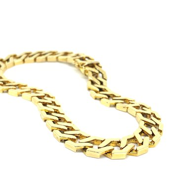 Gold Hexagon Link Bracelet