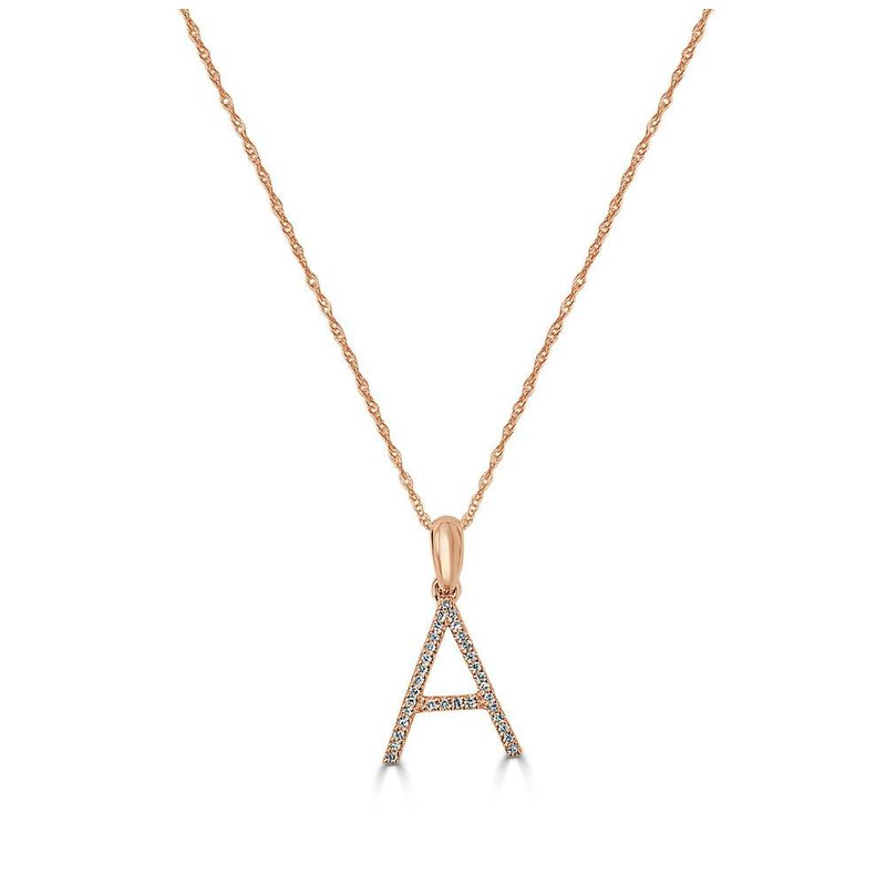 "Sabrina Large Initial ""A"" Diamond Necklace"