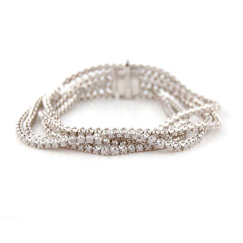 Decor Five Row Diamond Bracelet