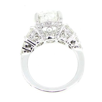 6.69ctw Round Diamond Three Stone Ring