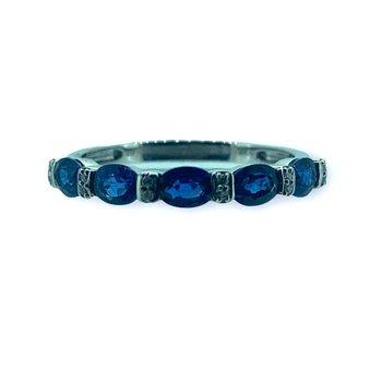 Oval Sapphire and Diamond Band