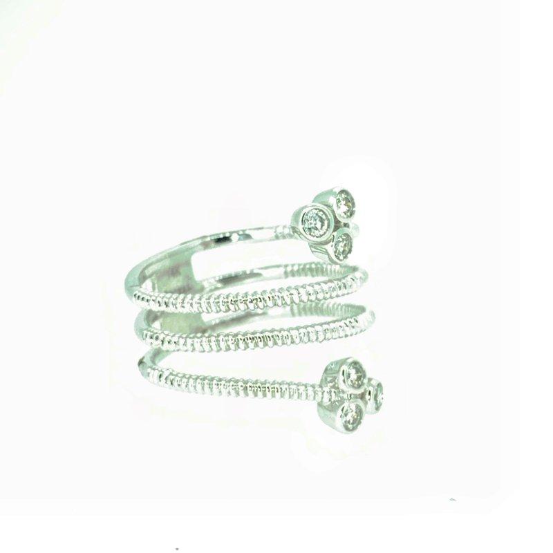 Decor Bezel Set Diamond Wrap Ring