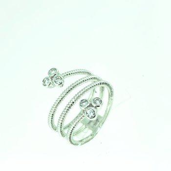 Bezel Set Diamond Wrap Ring