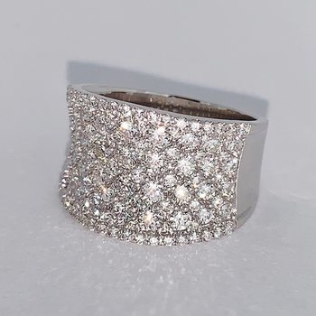 2.50ct Iced Out Pave Diamond Ring