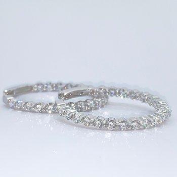 4.03ctw Diamond Hoop Earrings