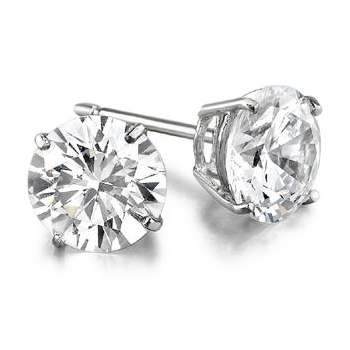 4.01ctw Diamond Stud Earrings