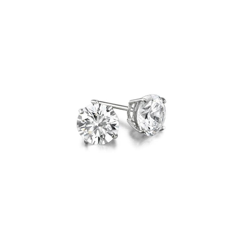 Decor 4.01ctw Diamond Stud Earrings