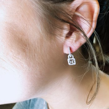 Diamond Drop Earring Mountings